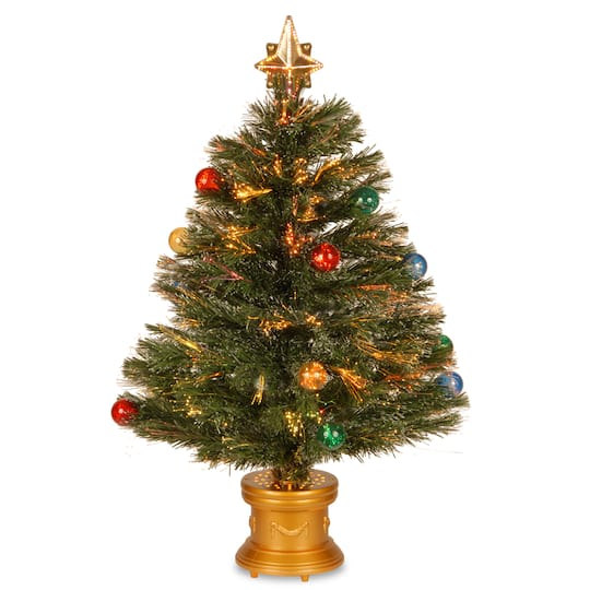 Picture Of A Christmas Tree.32 Fiber Optic Fireworks Artificial Christmas Tree With Top Star