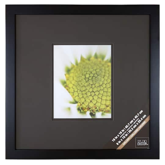 Black Square Gallery Wall Frame With Black Double Mat By Studio Décor