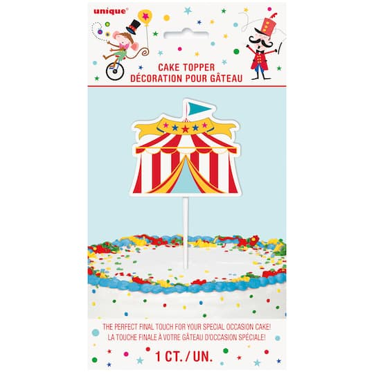 Carnival Circus Tent Cake Topper Img