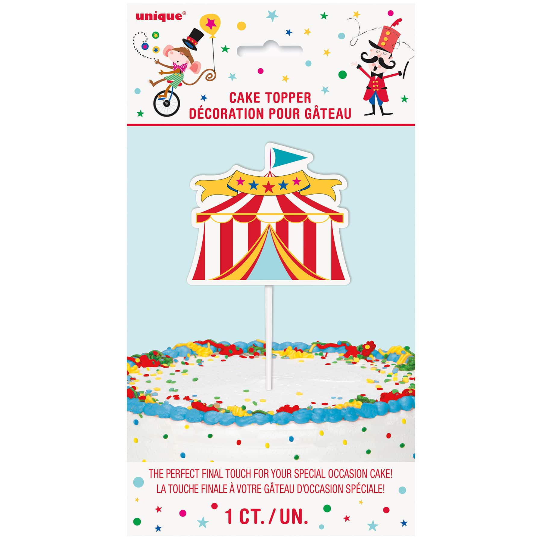 Carnival Circus Tent Cake Topper. img. img img img  sc 1 st  Michaels Stores & Circus Tent Birthday Cake Decoration | Carnival Circus Party Supplies