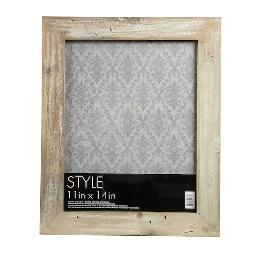 Picture Frame Barn Wood Grey With White Wash 11 X 14 Inches