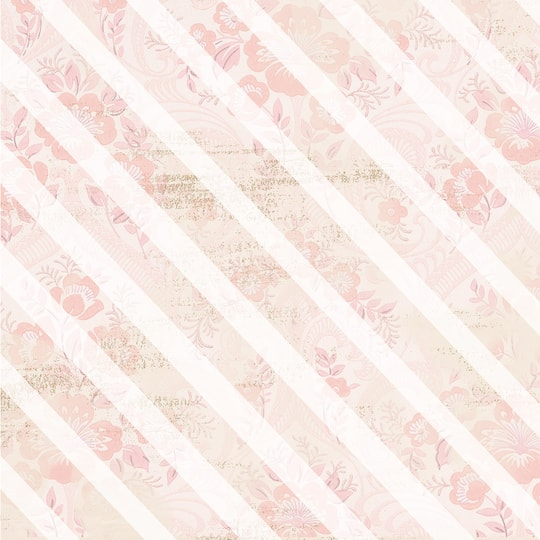 Buy The Pink Blush Floral Scrapbook Paper By Recollections At Michaels