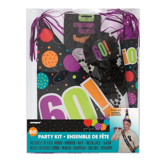 Birthday Cheer 60th Party Accessory Kit Img