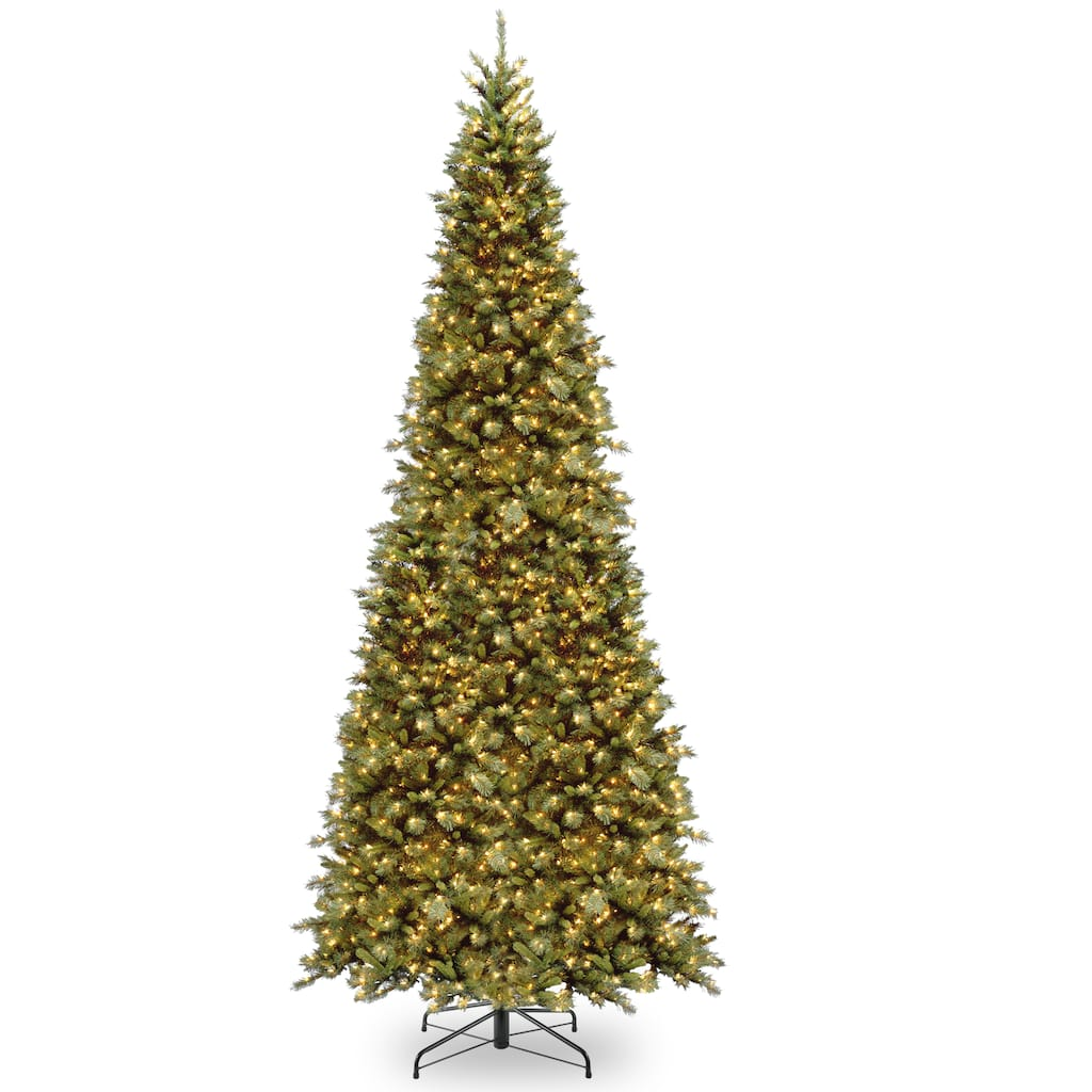 12 ft. Pre-lit Tiffany Fir Slim Artificial Christmas Tree, Clear Lights