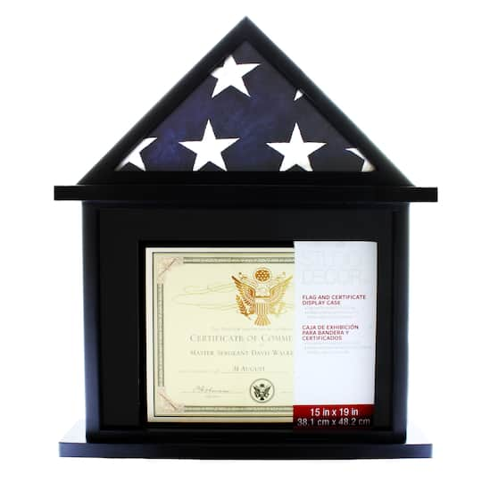 Flag Certificate Display Case By Studio Décor