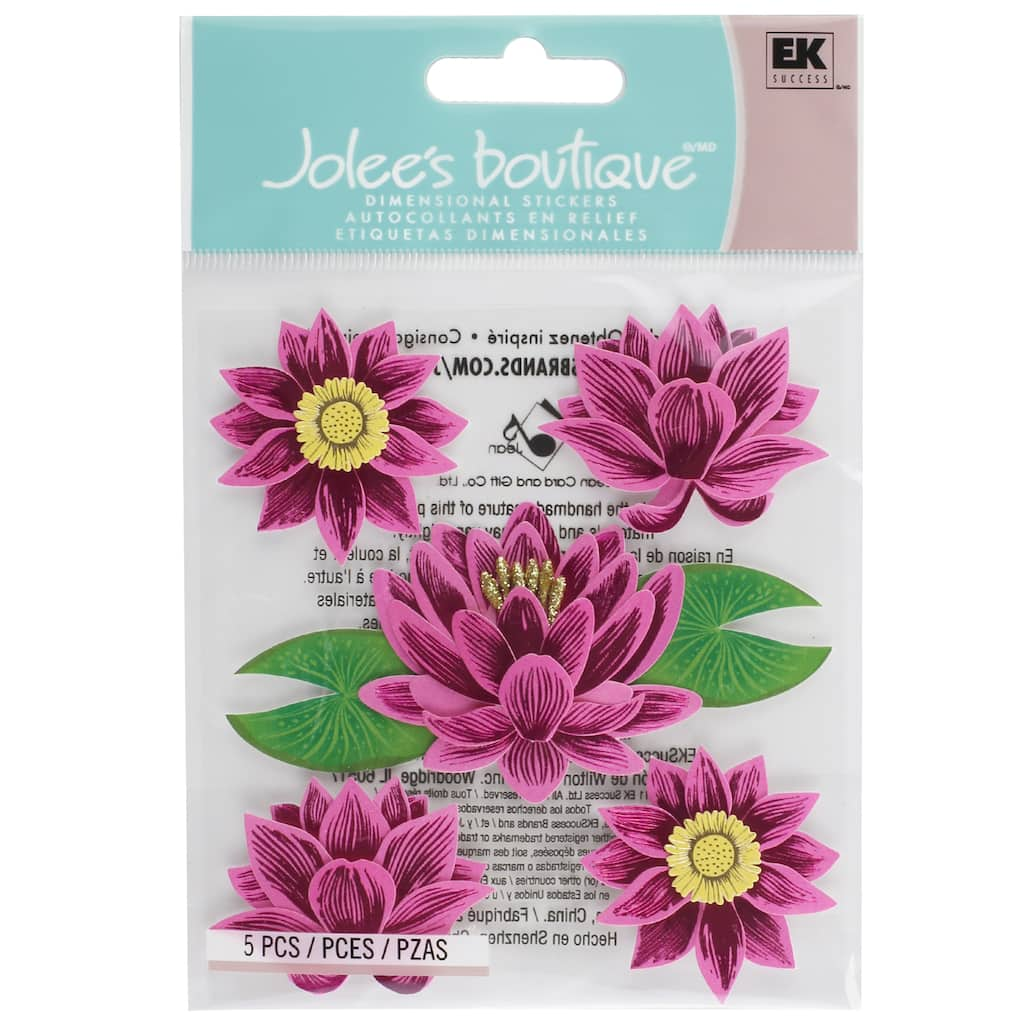 Buy The Jolees Boutique Dimensional Stickers Lotus Flower At Michaels