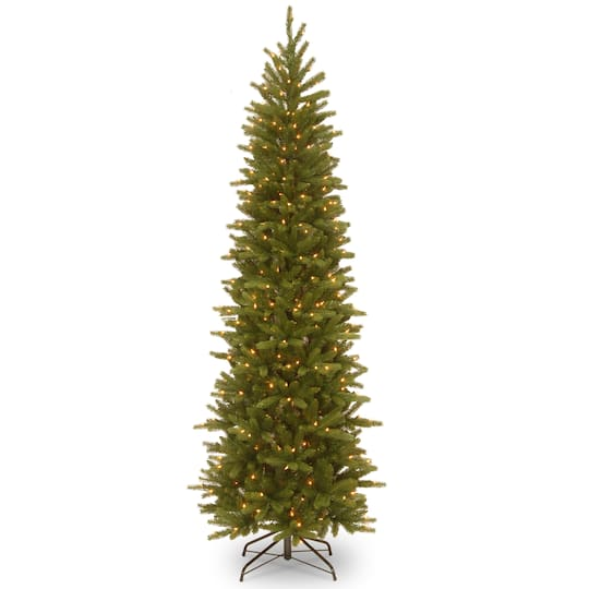 Pre-lit Feel Real® Hinged Grande Fir Slim Artificial Christmas Tree, Clear  Lights - 7.5 Ft. Pre-lit Feel Real® Hinged Grande Fir Slim Artificial