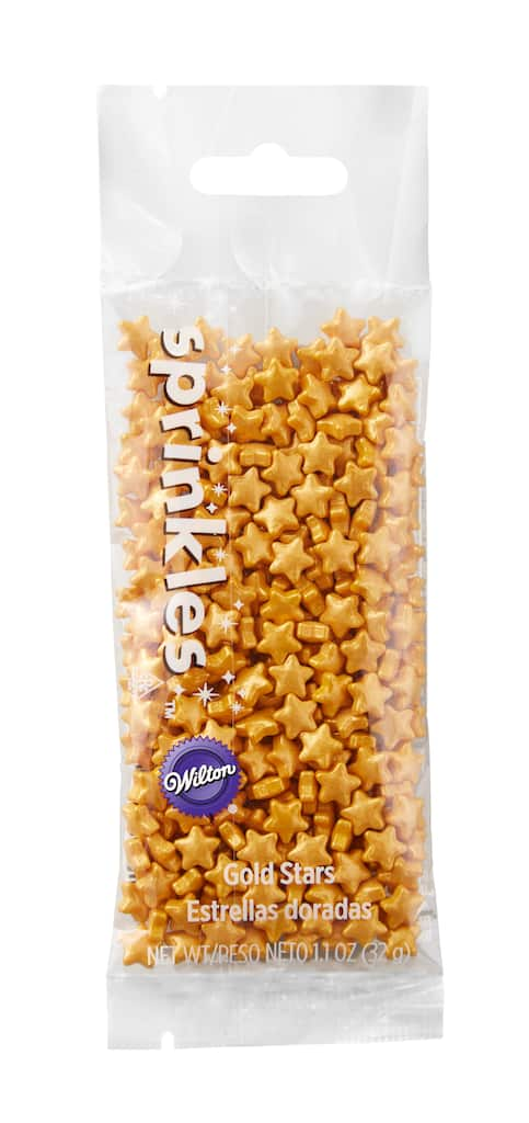 Wilton® Star Shaped Sprinkles, Gold