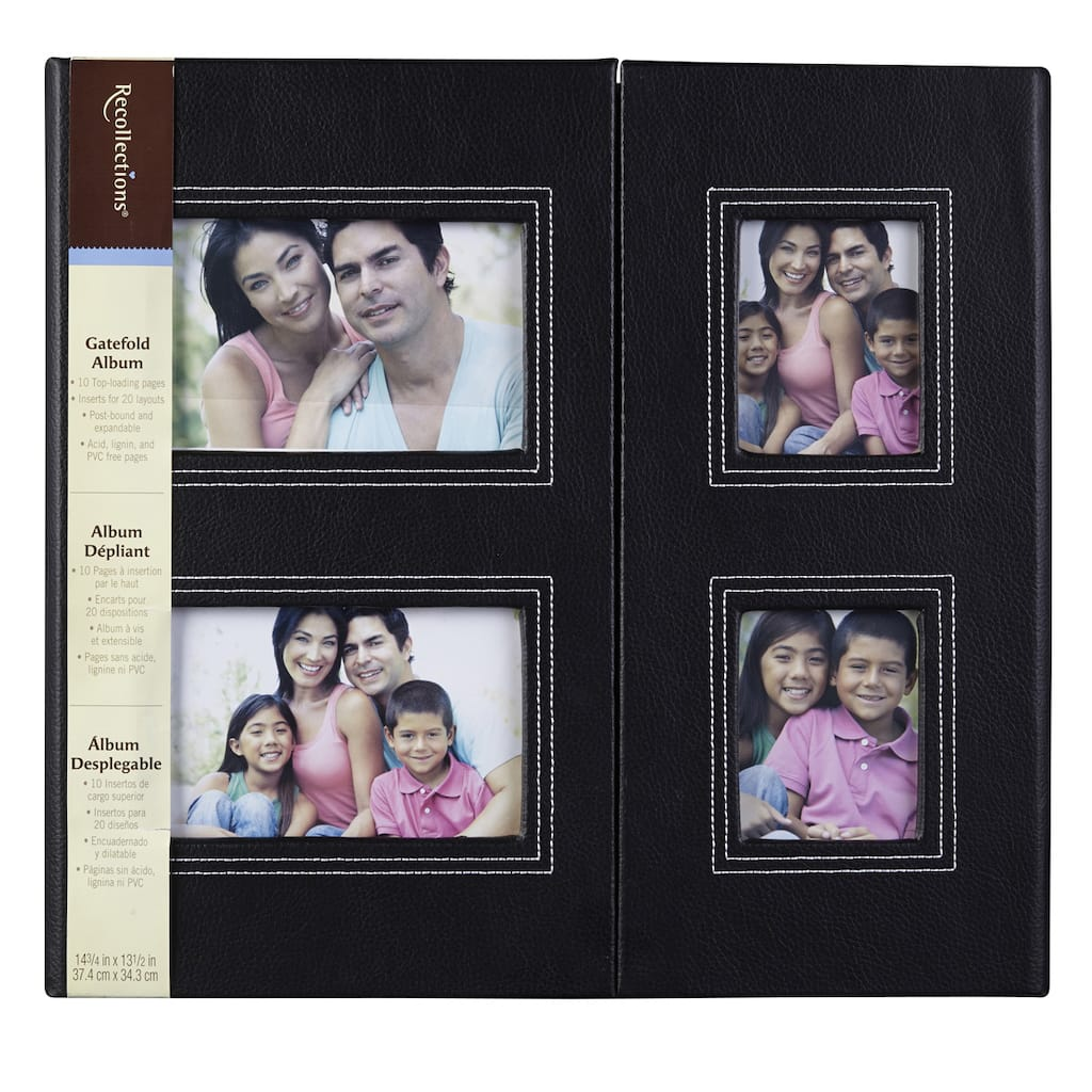 Recollections Black Gatefold Scrapbook Album