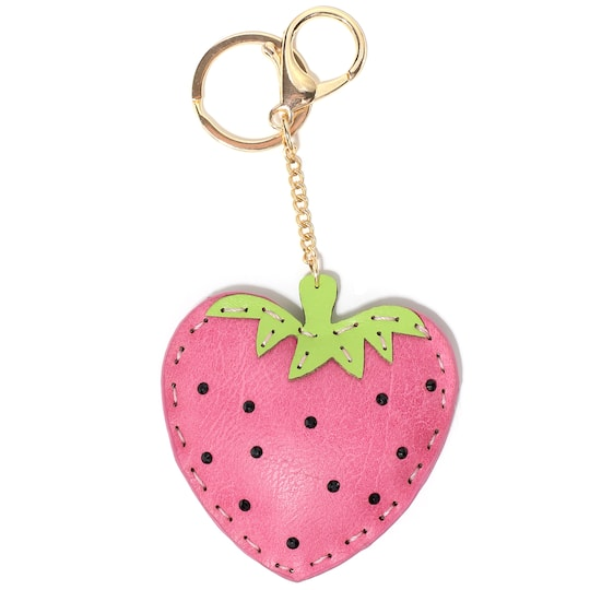 Find the Pink   Green Strawberry Keychain By Bead Landing™ at Michaels fbe28d84c