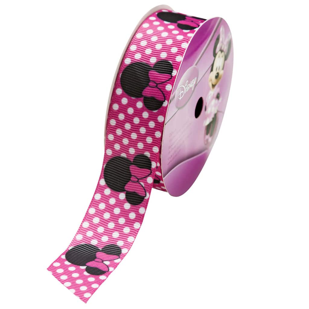 1 Mt Minnie Mouse Grosgrain Disney Ribbon **Choose Colour /& Width** 25 or 16 mm