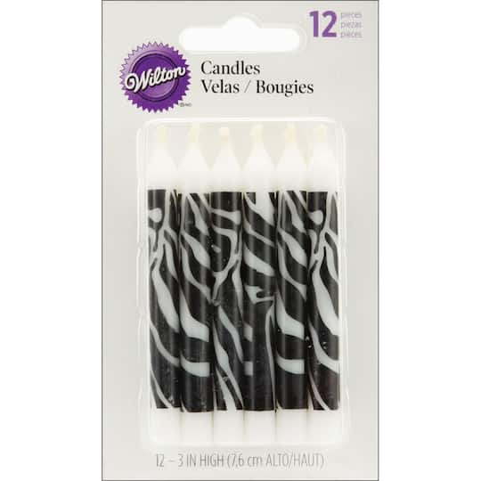 Wilton® Zebra Print Birthday Candles