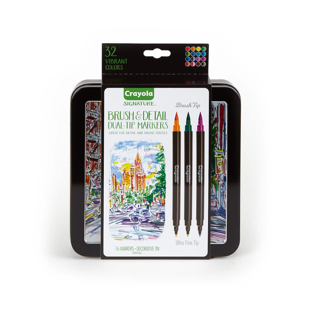 Shop For The Crayola Signature Brush Detail Dual Tip Markers At