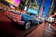 Led Lighted Nyc Times Square With Classic Chevrolet Wall Art