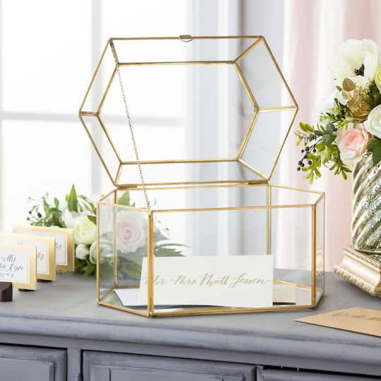 Wedding Gift Tax: Shop For The David Tutera™ Gold Frame Card Box At Michaels