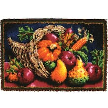 Wonderart Clic Latch Hook Rug Kit Country Harvest