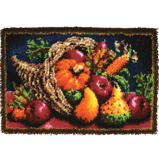Wonderart® Classic Latch Hook Rug Kit, Country Harvest