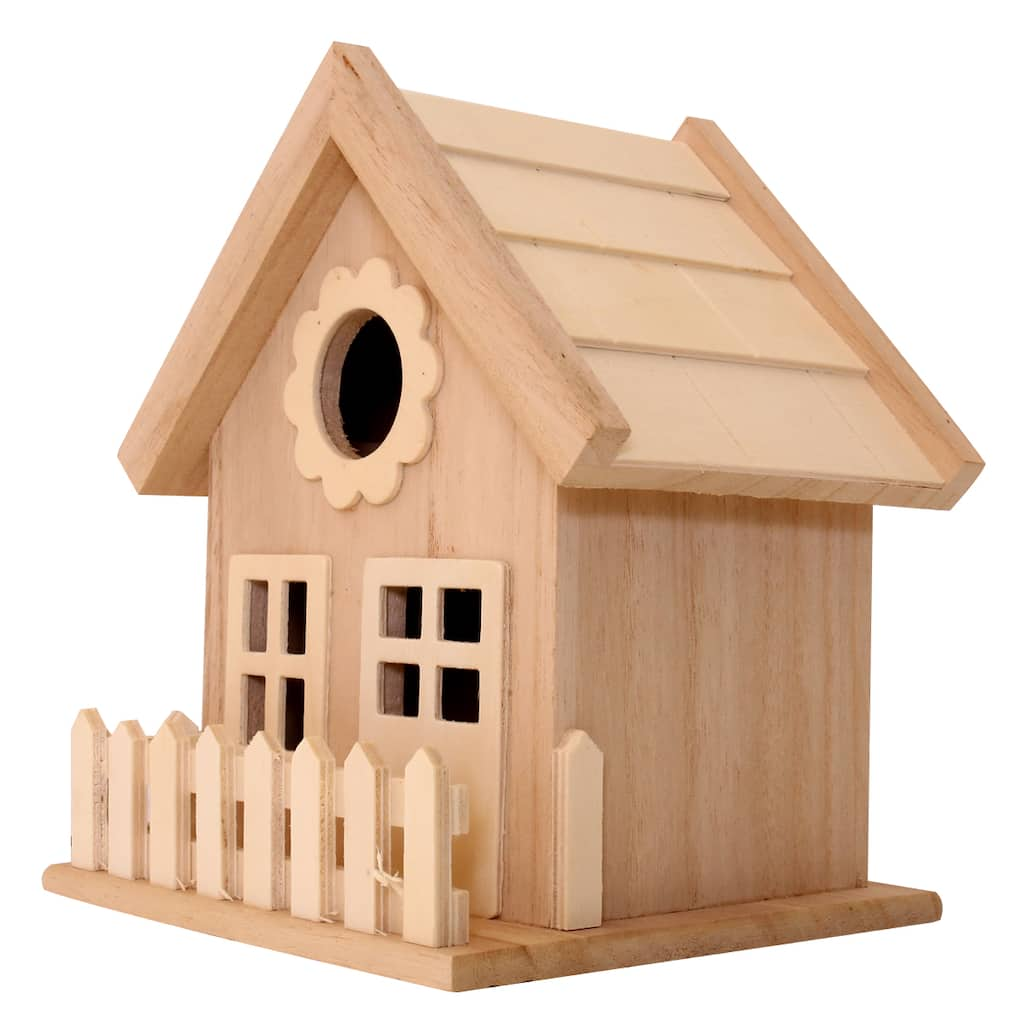 Find The Wood Birdhouse With Fence By Artminds 174 At Michaels