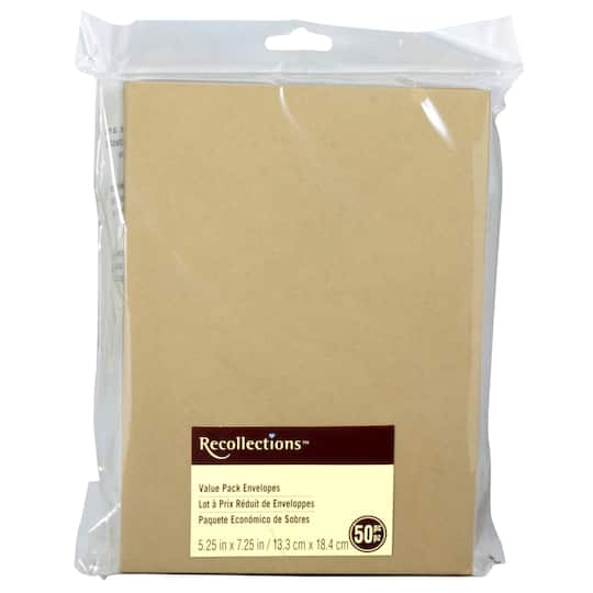 Kraft Envelope Value Pack by Recollections®, 5