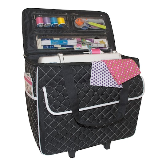 Shop For The Rolling Sewing Machine Case By Loops Threads™ At Michaels Custom Sewing Machine Bags On Wheels