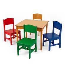 KidKraft Nantucket Table & 4 Chair Set, Primary