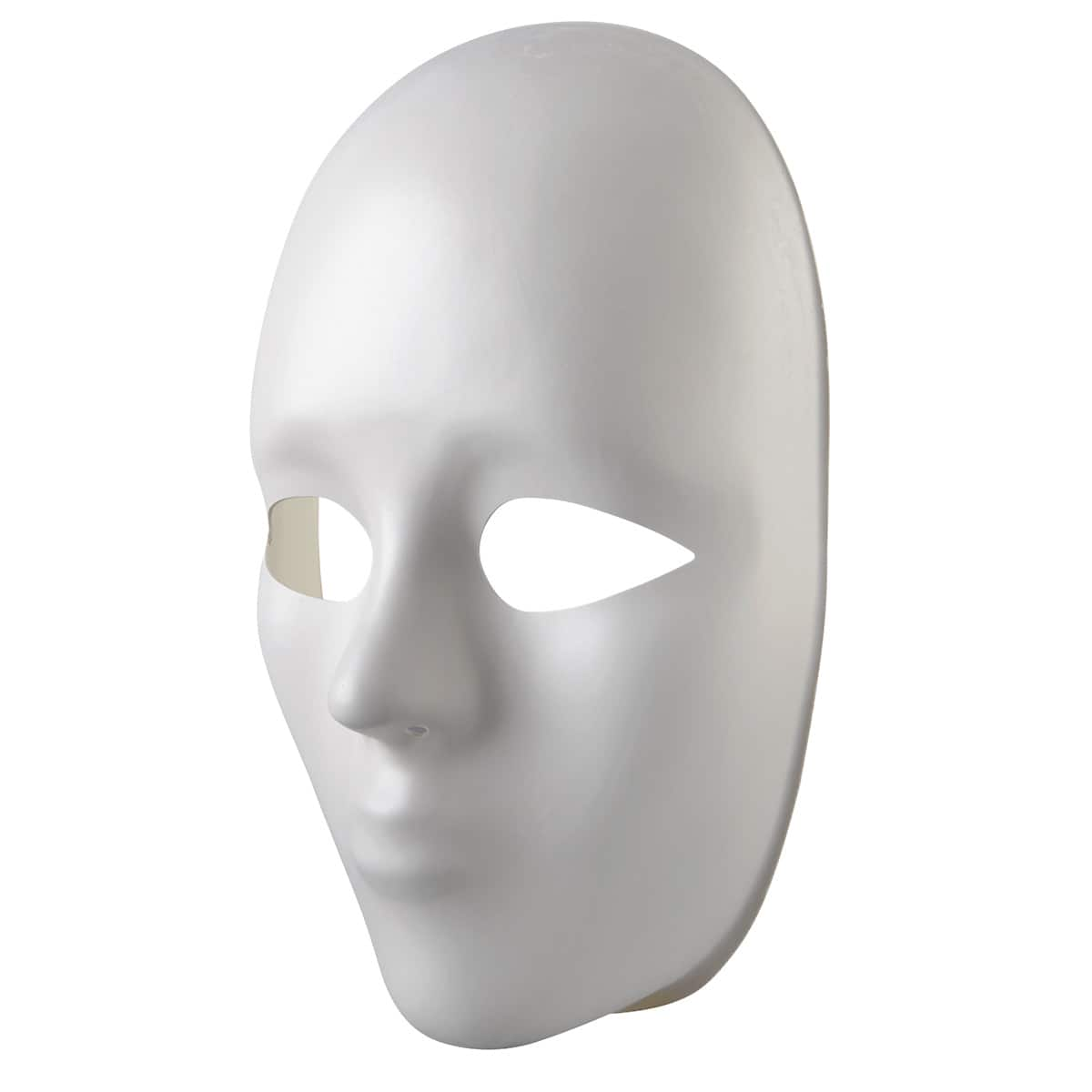 """Mask-It Full Male Face Form 8.5/""""-White"""