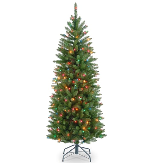 Buy The 4 5 Ft Pre Lit Kingswood Fir Pencil Artificial Christmas