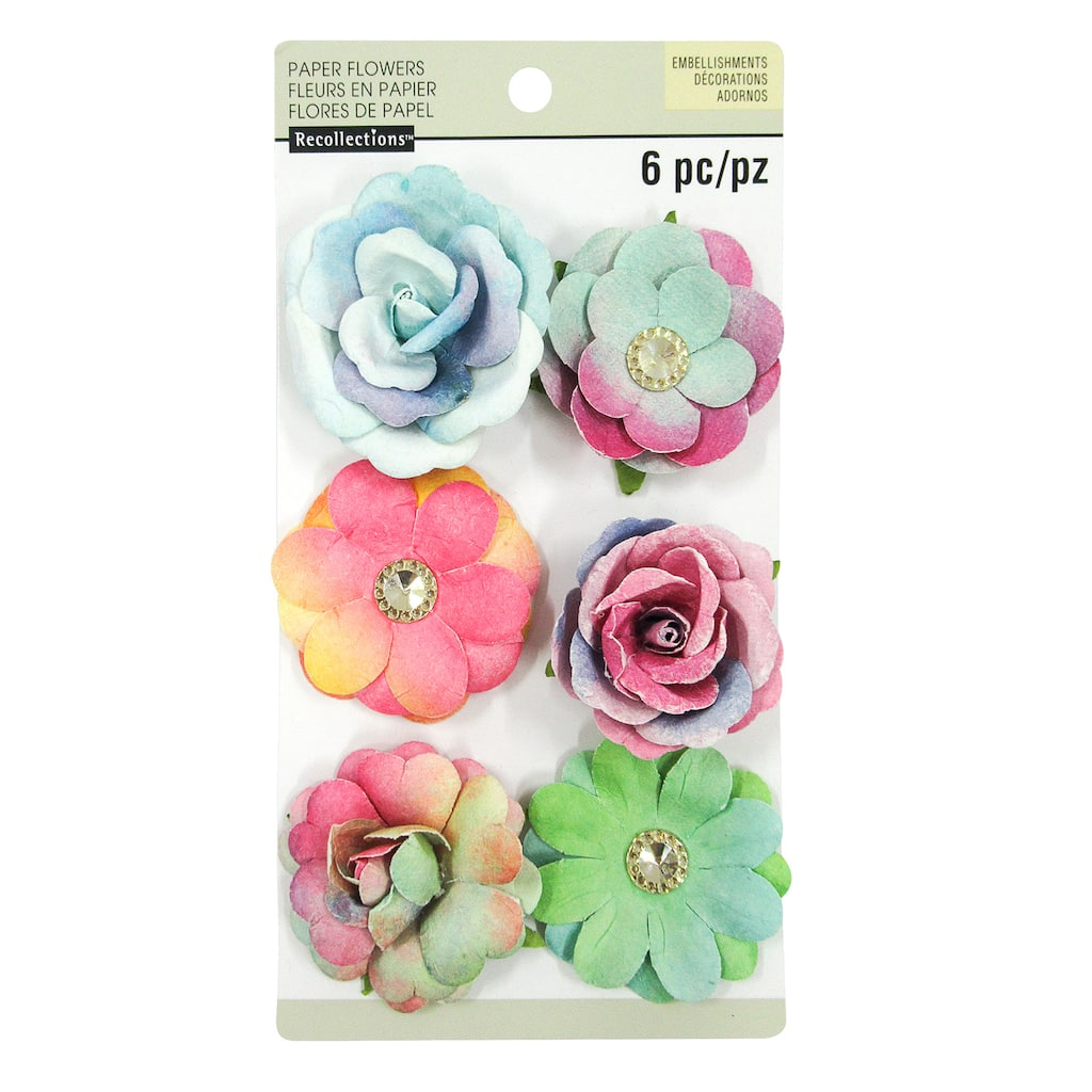 Shop for the watercolor paper flower embellishments by recollections watercolor paper flower embellishments by recollections mightylinksfo
