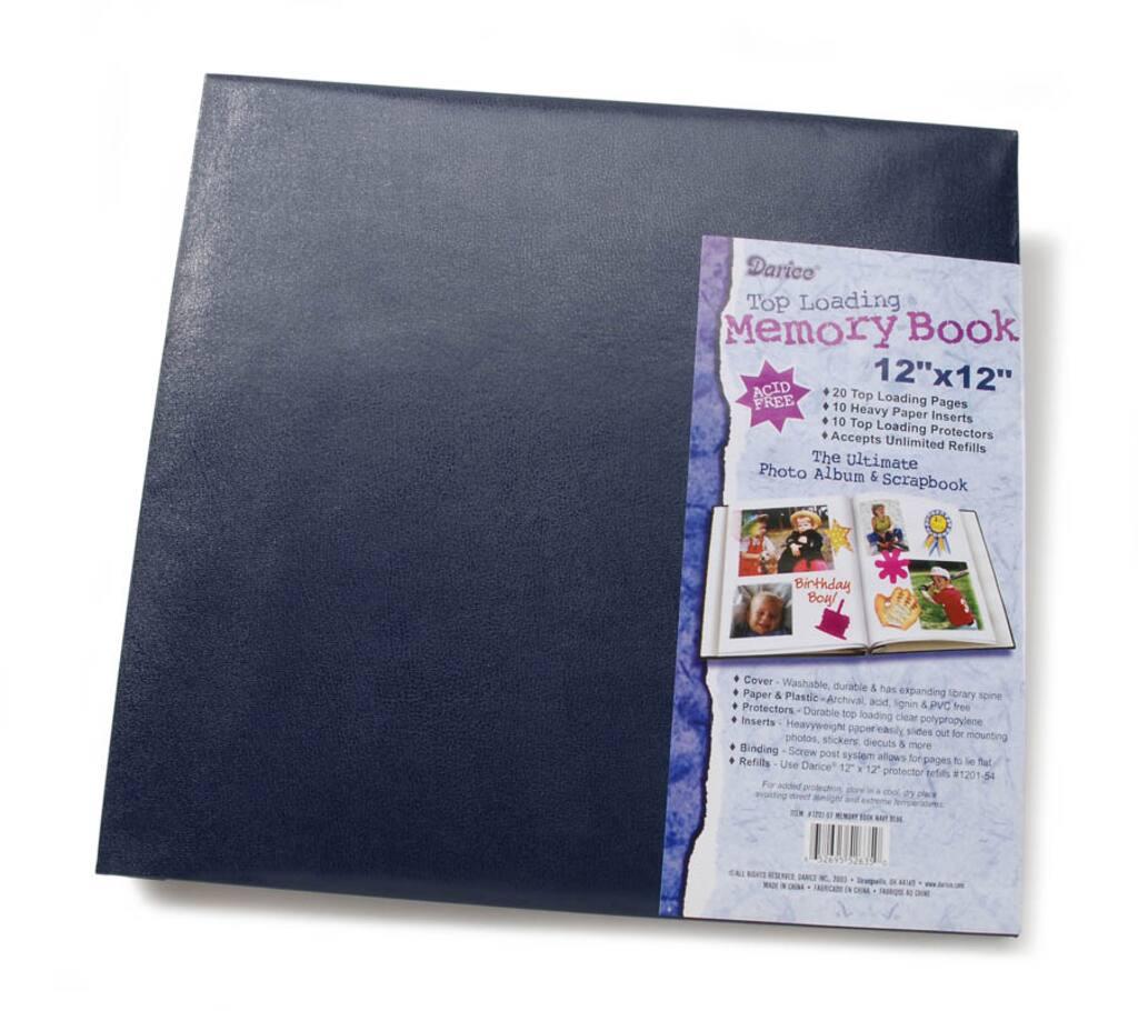 Darice 12x12 Scrapbook Album Post Bound Navy Blue