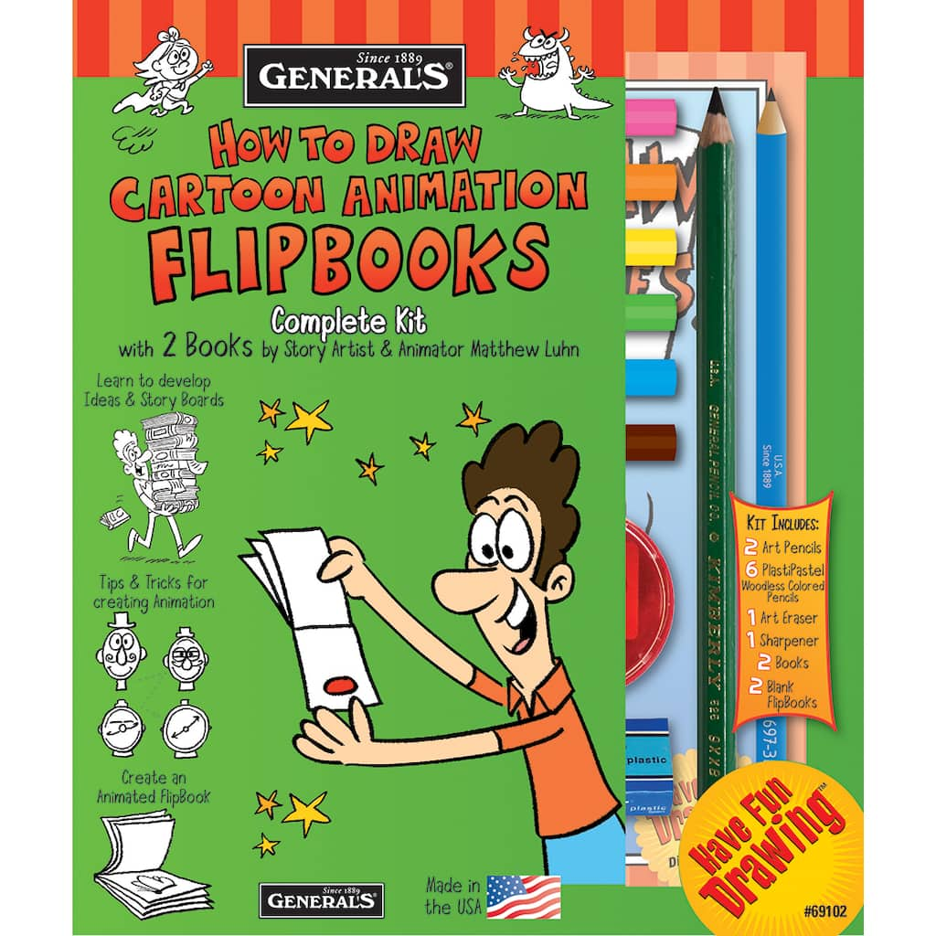 General Pencil How To Draw Cartoons Kit