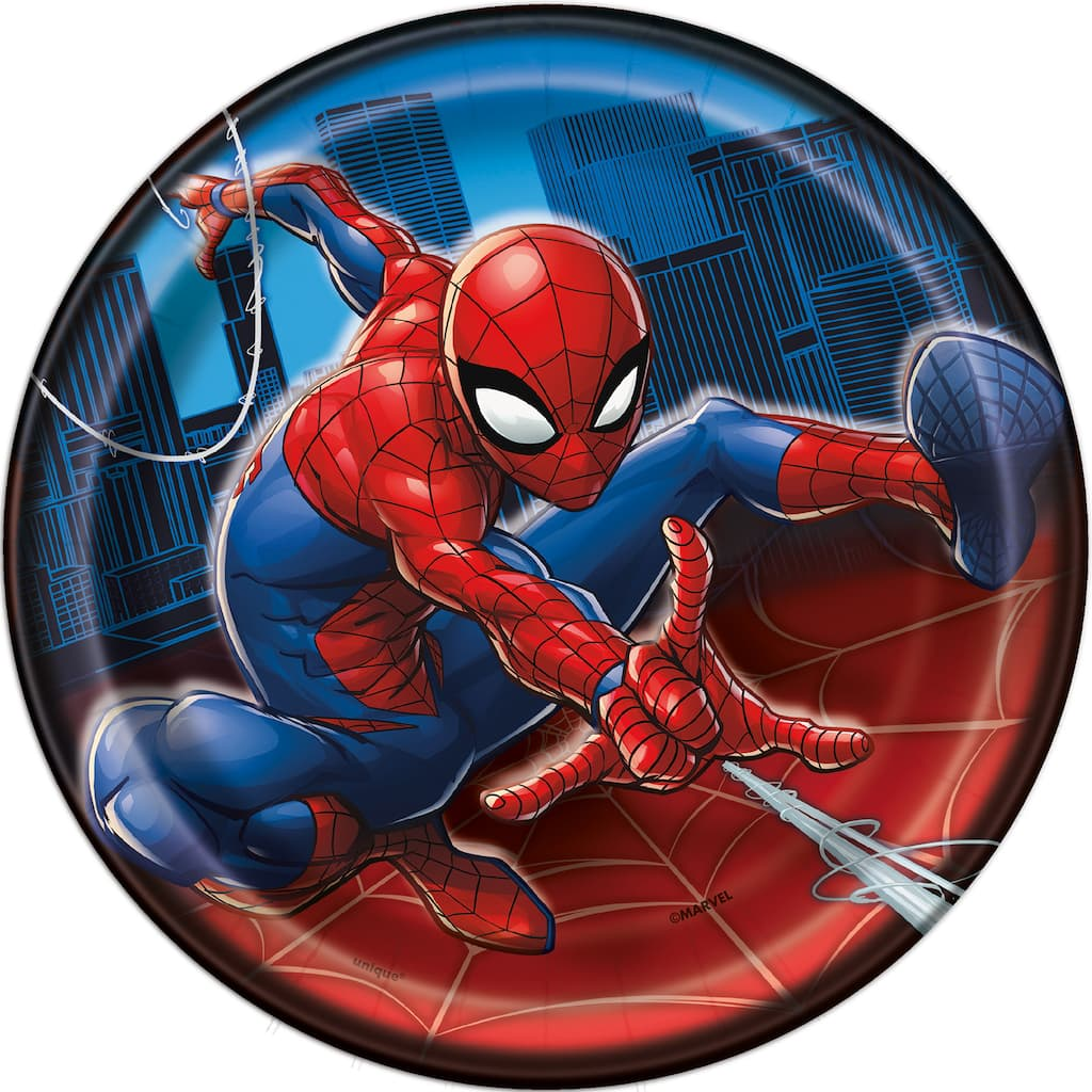 Spiderman Paper Cake Plates Spiderman Party Supplies