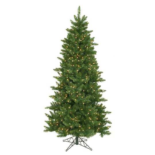 - 12 Ft. Pre-Lit Eastern Pine Slim Artificial Christmas Tree, Clear Lights