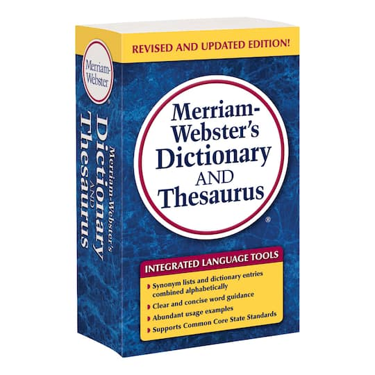 Merriam-Webster's Dictionary and Thesaurus, Trade Paperback