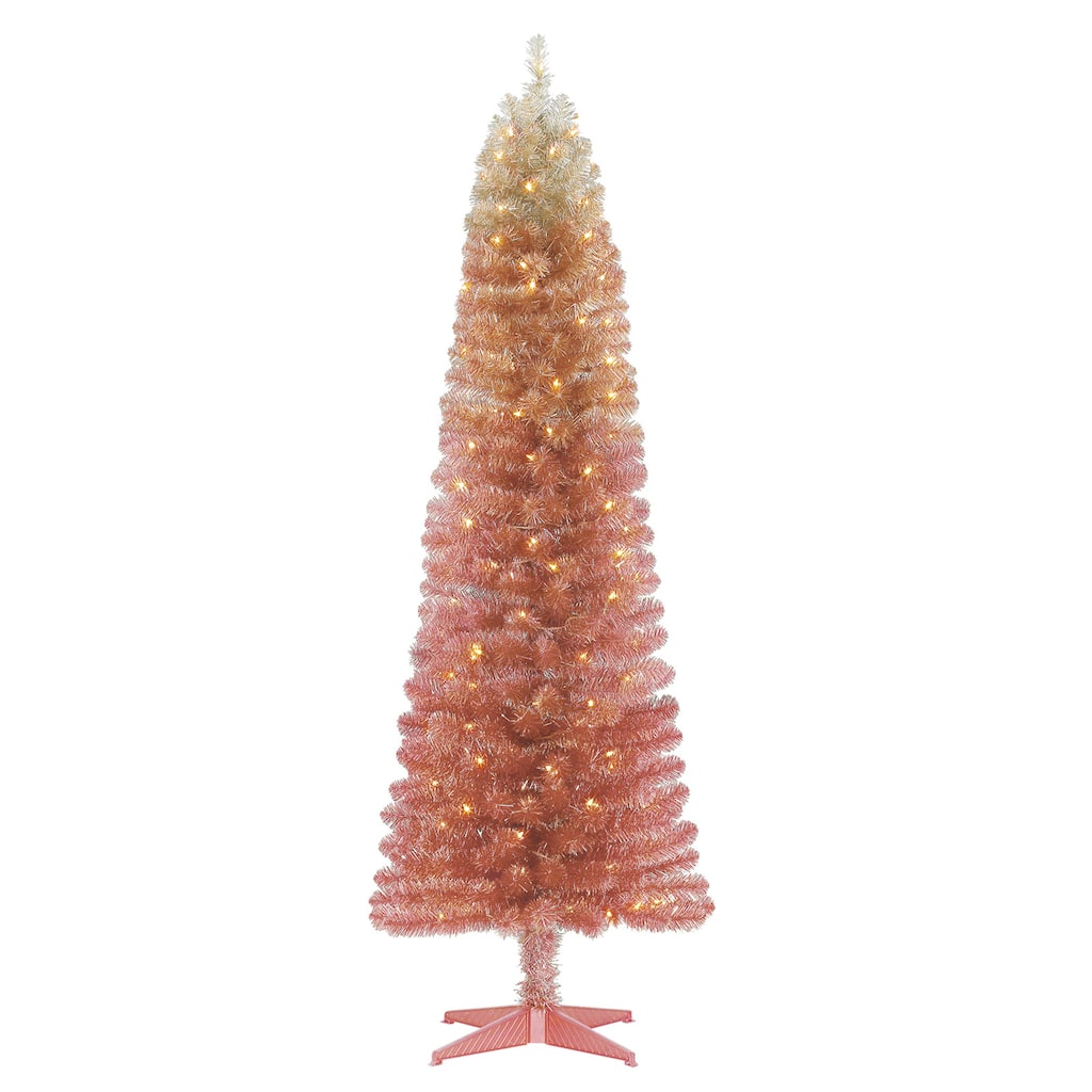 6ft Pre Lit Alexa Artificial Christmas Tree Clear Lights By Ashland