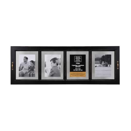 Antique Black 4-Opening Float Frame By Studio Décor®