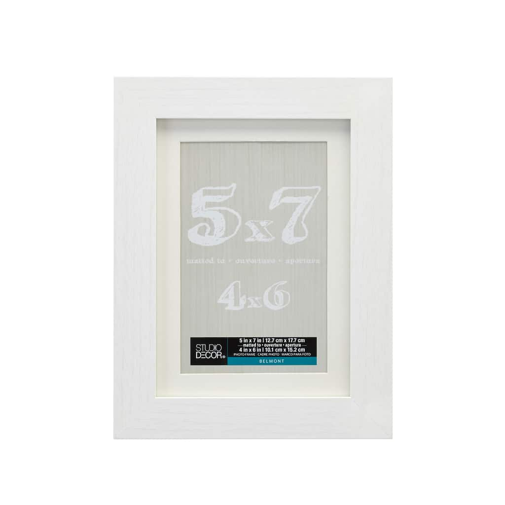White Belmont Frame With Mat By Studio Décor