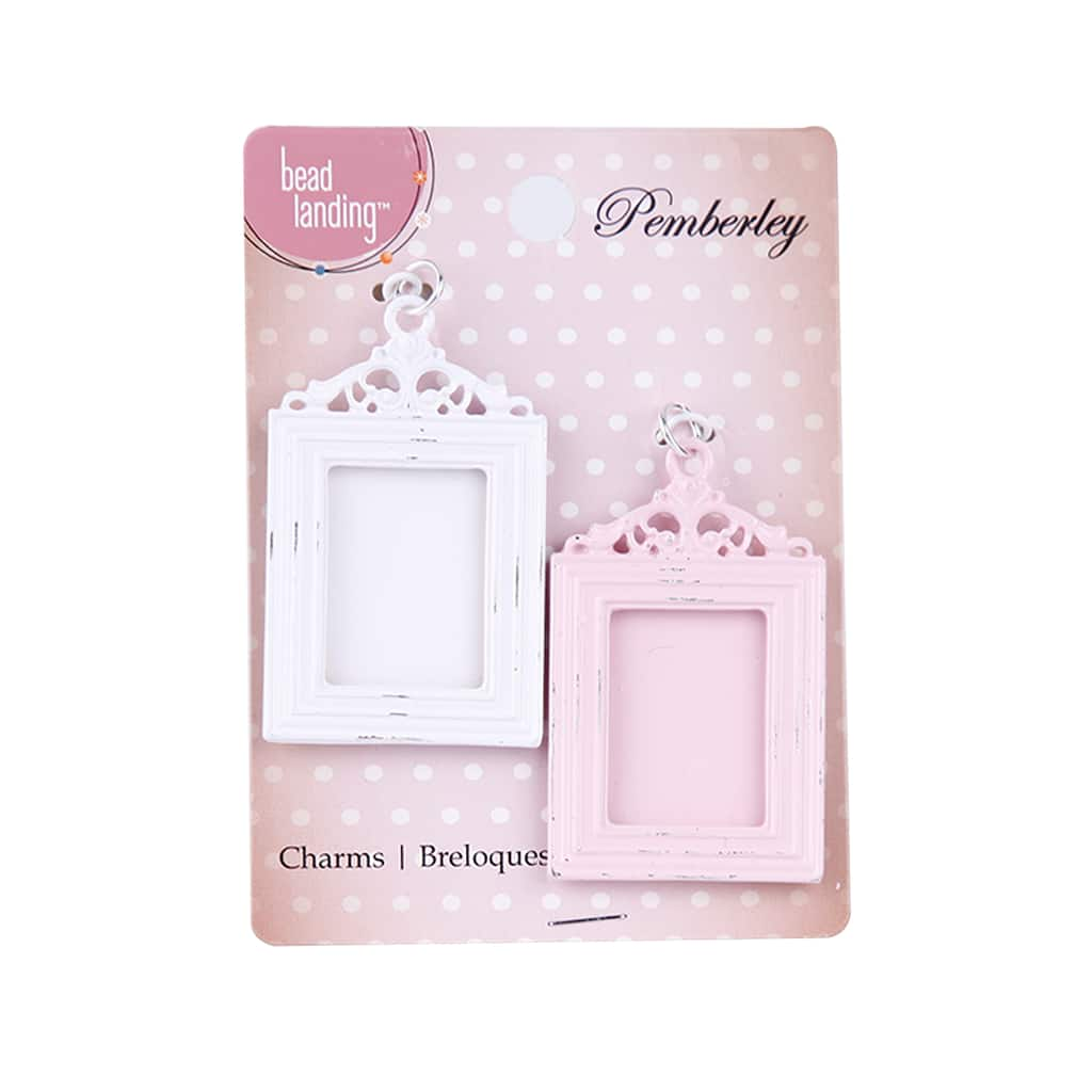 Buy the Pemberley Pink & White Frame Charms by Bead Landing™ at Michaels