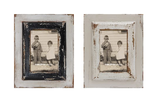 Find The Casual Country Wooden Photo Frames Distressed Finish At