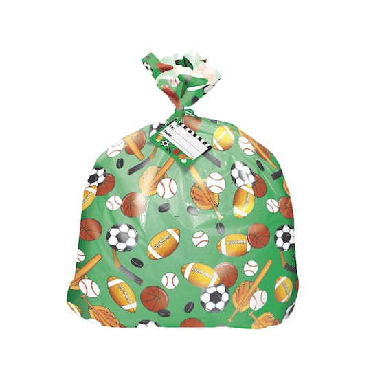 Jumbo Plastic Classic Sports Gift Bag