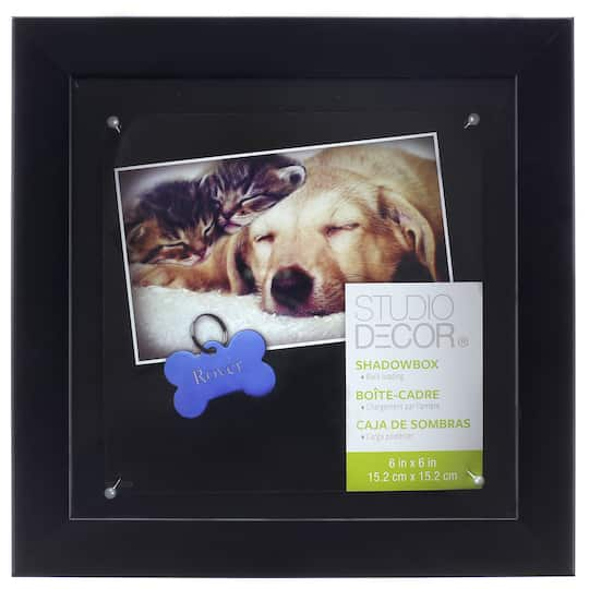 Black Mini Shadow Box 6 X 6 By Studio Décor
