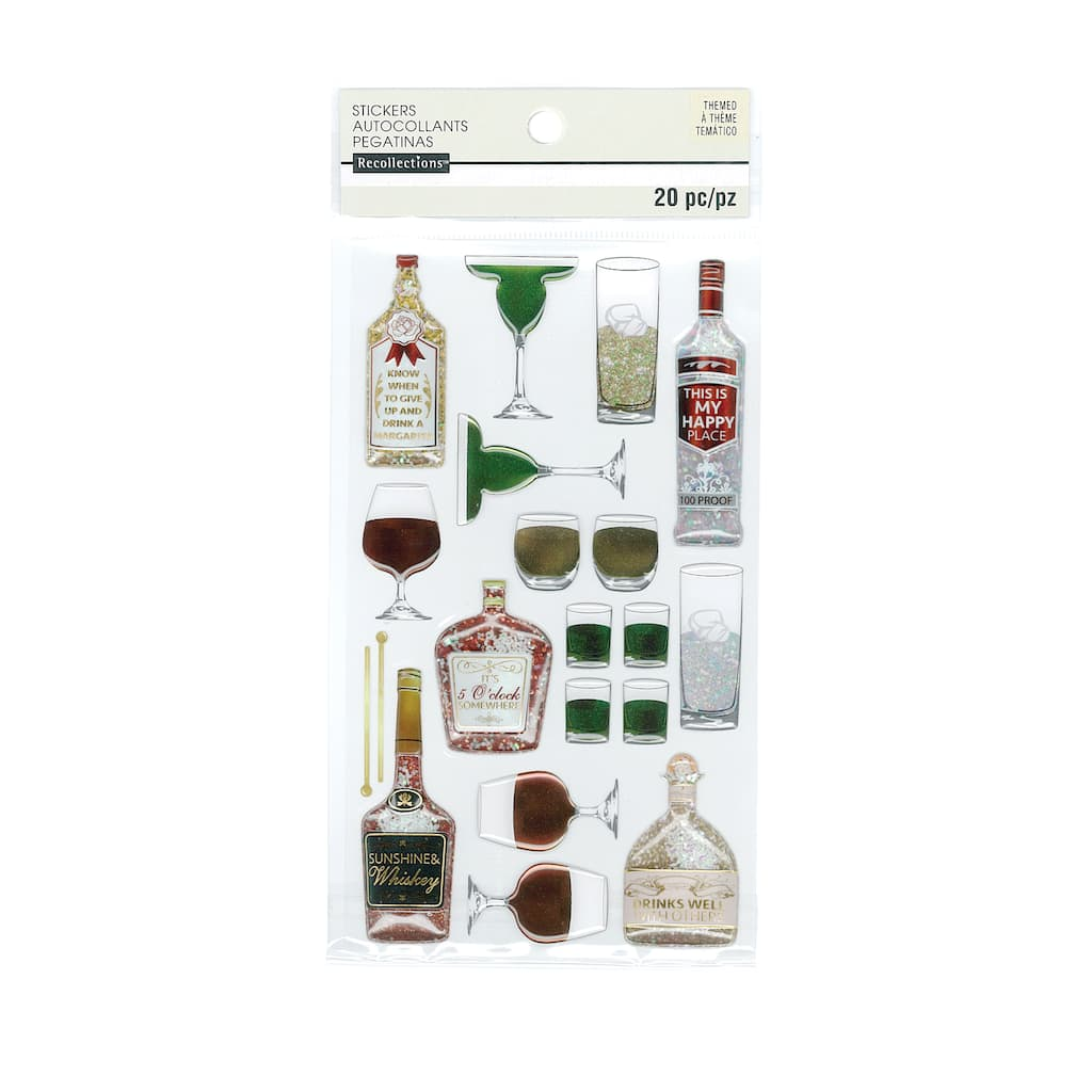 Find The Cocktail Glass Stickers By Recollections At Michaels