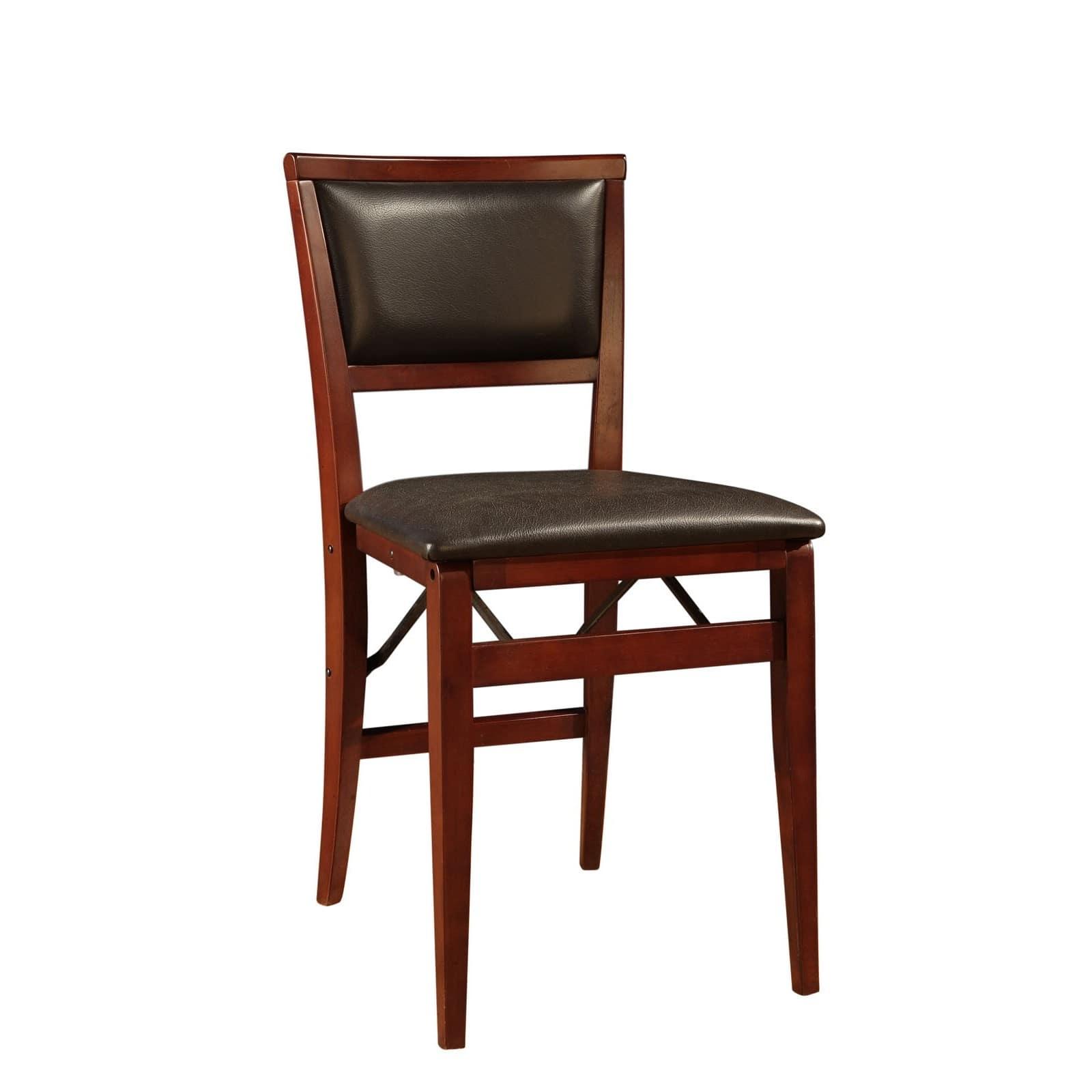 Linon Bella Pad Back Folding Chair