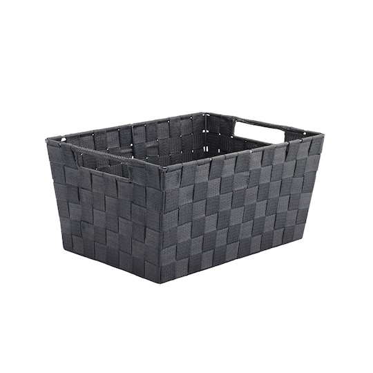 For The Black Nylon Tapered Storage Basket With Handle Cutouts By Ashland At Michaels