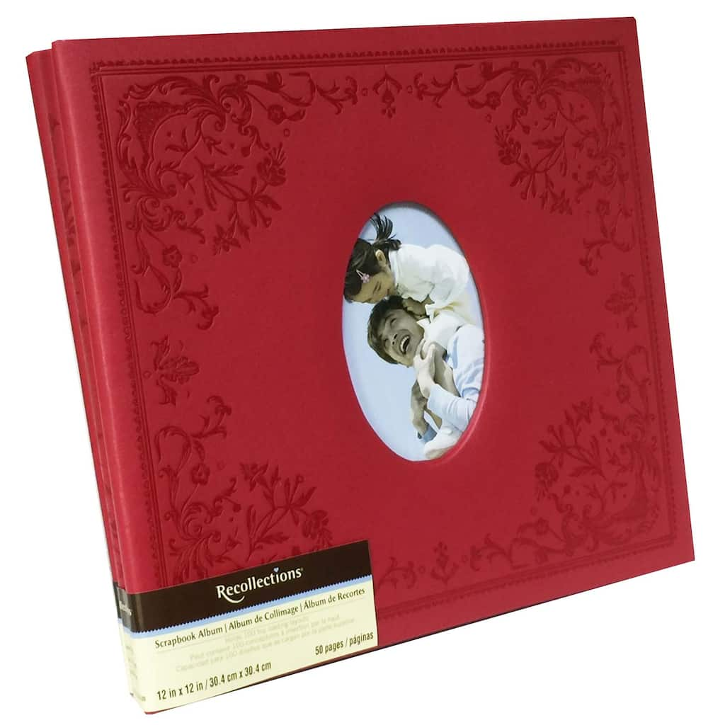 Red Faux Leather Mega Scrapbook By Recollections