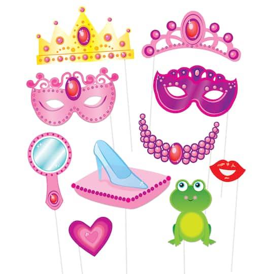 Princess Photo Booth Props, 10pc