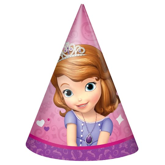 Sofia The First Party Hats 8ct Img