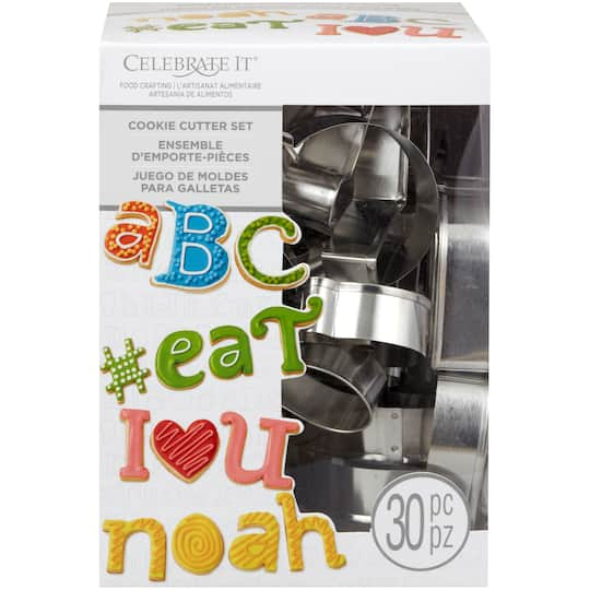 Alphabet Cookie Cutter Set By Celebrate It