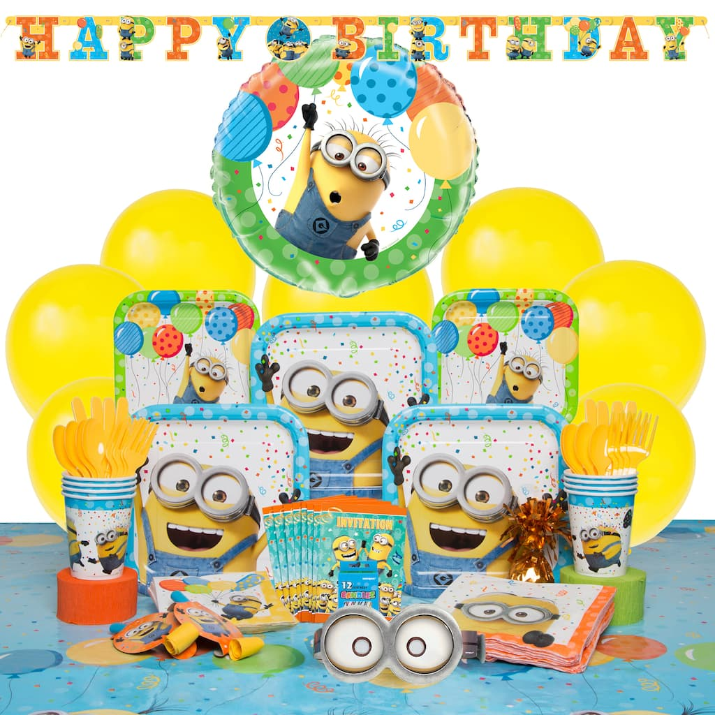 Deluxe Despicable Me Minions Party Supplies Kit For 8 Img