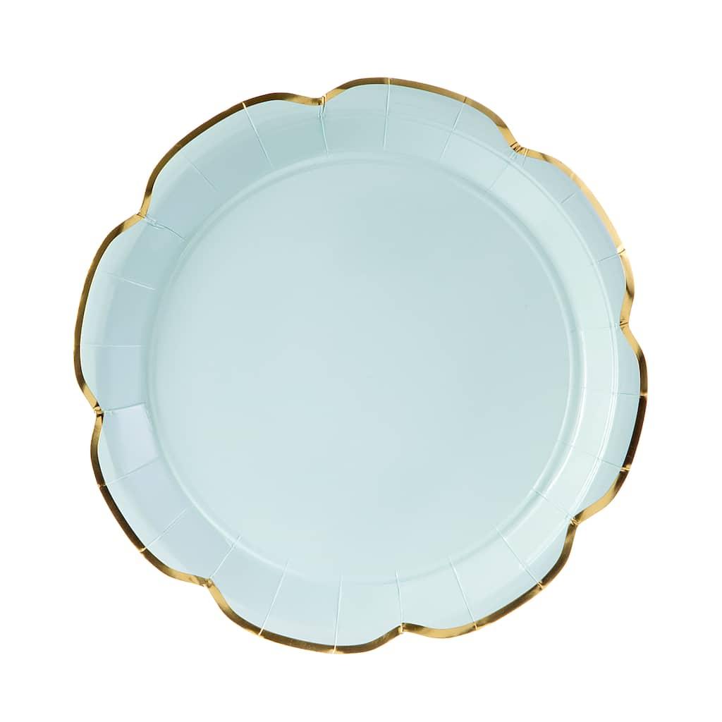 buy the 10 5 martha stewart mint blush paper plates 10ct at michaels. Black Bedroom Furniture Sets. Home Design Ideas