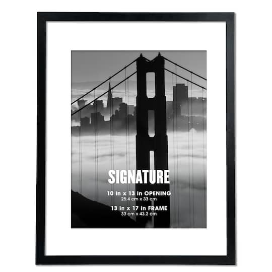 Black Signature Frame With Mat By Aaron Brothers